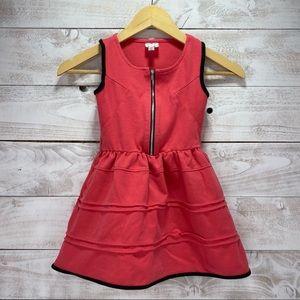 D-Signed Disney Coral And Black Tank Zipper Dress